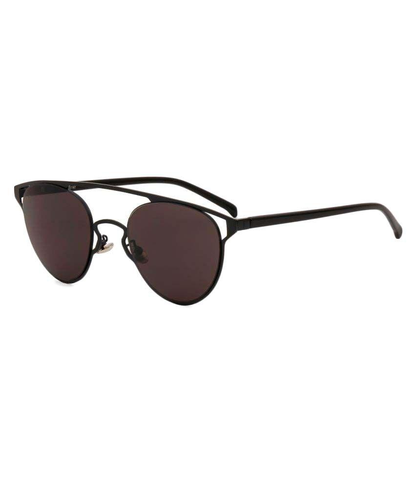Royal Son Black Round Sunglasses ( WHAT3635 )