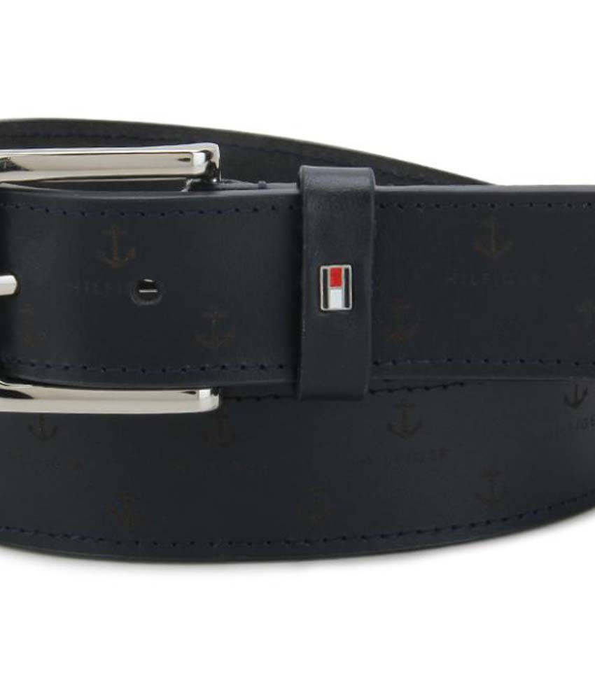 5c7ad7d6c2 Tommy Hilfiger Navy Leather Casual Belt Tommy Hilfiger Navy Leather Casual  Belt