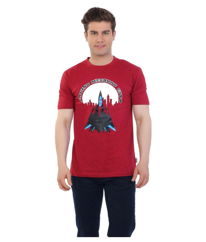 Eetee Red Round T-Shirt