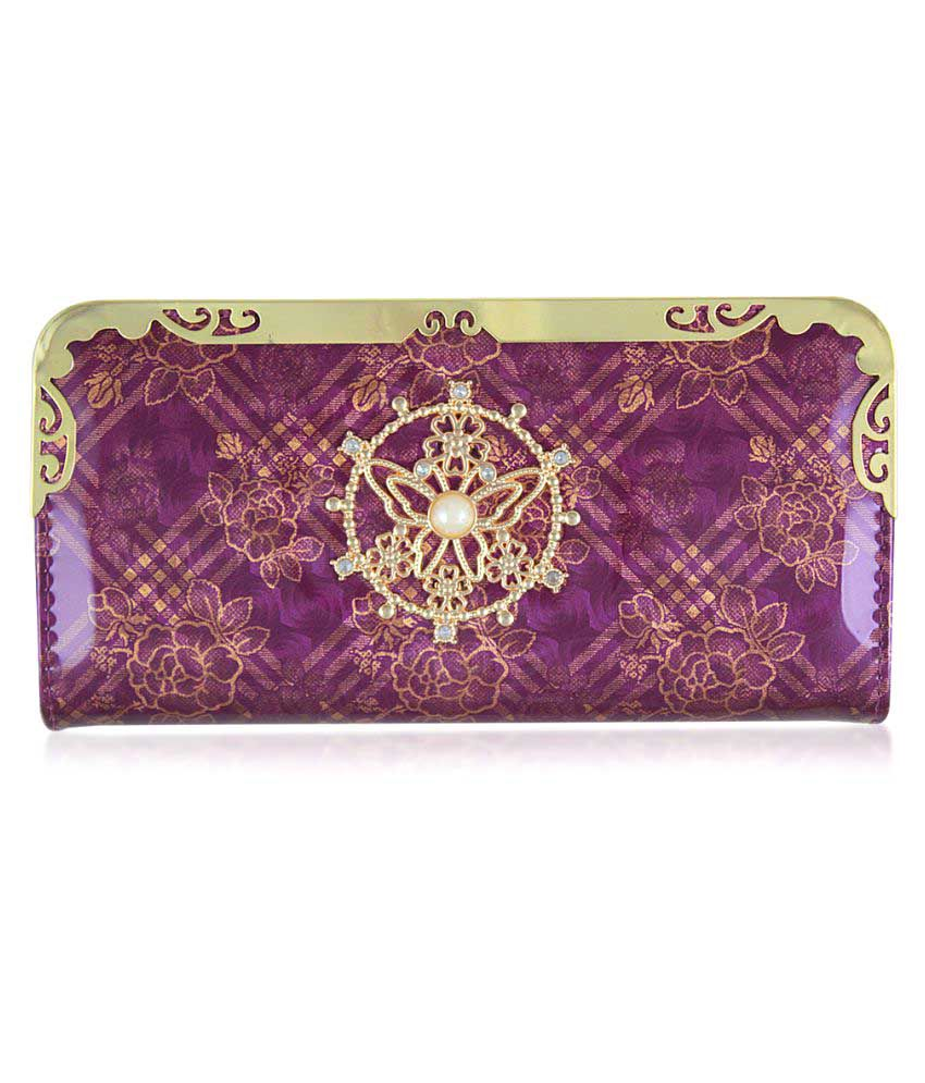 Mac&Gitts Purple Faux Leather Box Clutch