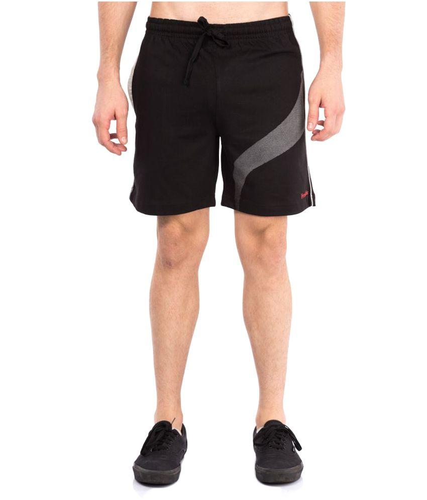 VIP Frenchie Black Cotton Walking Shorts Single