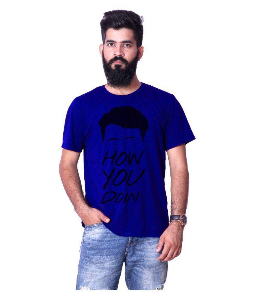 Shopdoze Blue Round T-Shirt