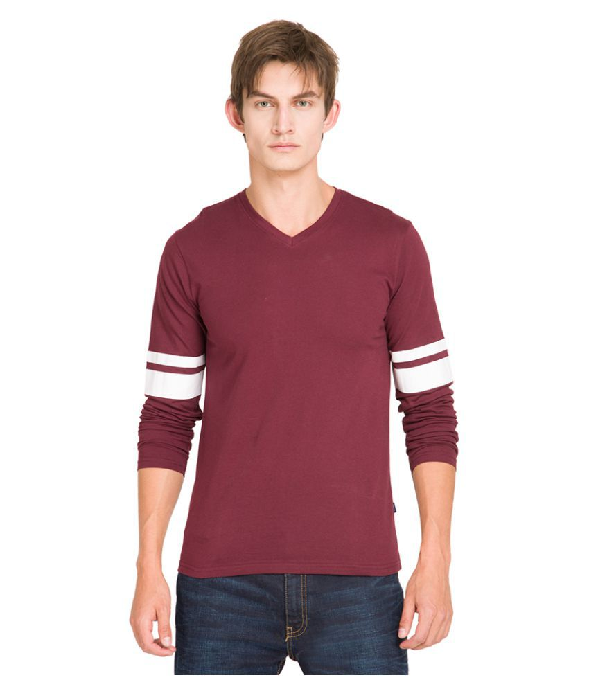Highlander Maroon V-Neck T-Shirt