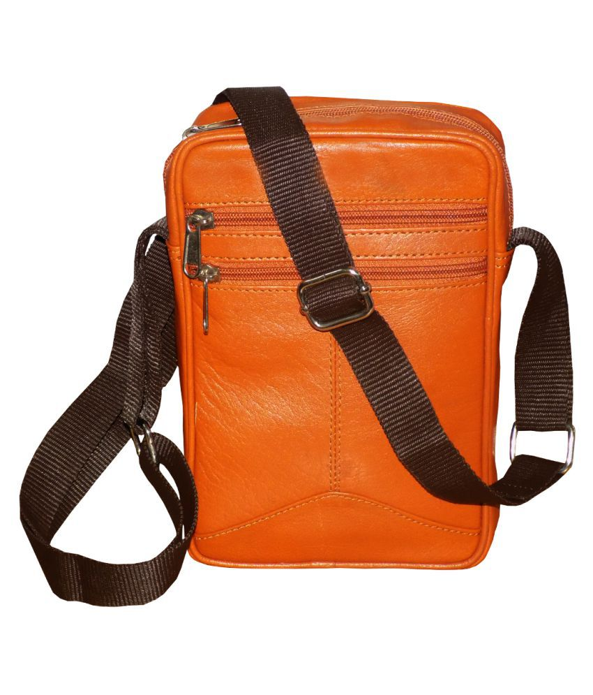 Style 98 Stylish Tan Leather Office Messenger Bag