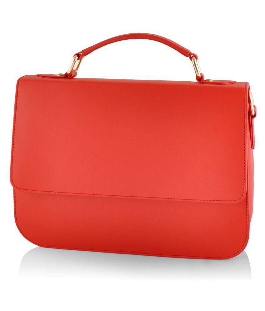 Ashvah Red P.U. Satchel Bag