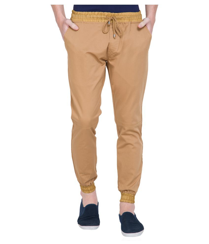 Locomotive Beige Slim Flat Trouser