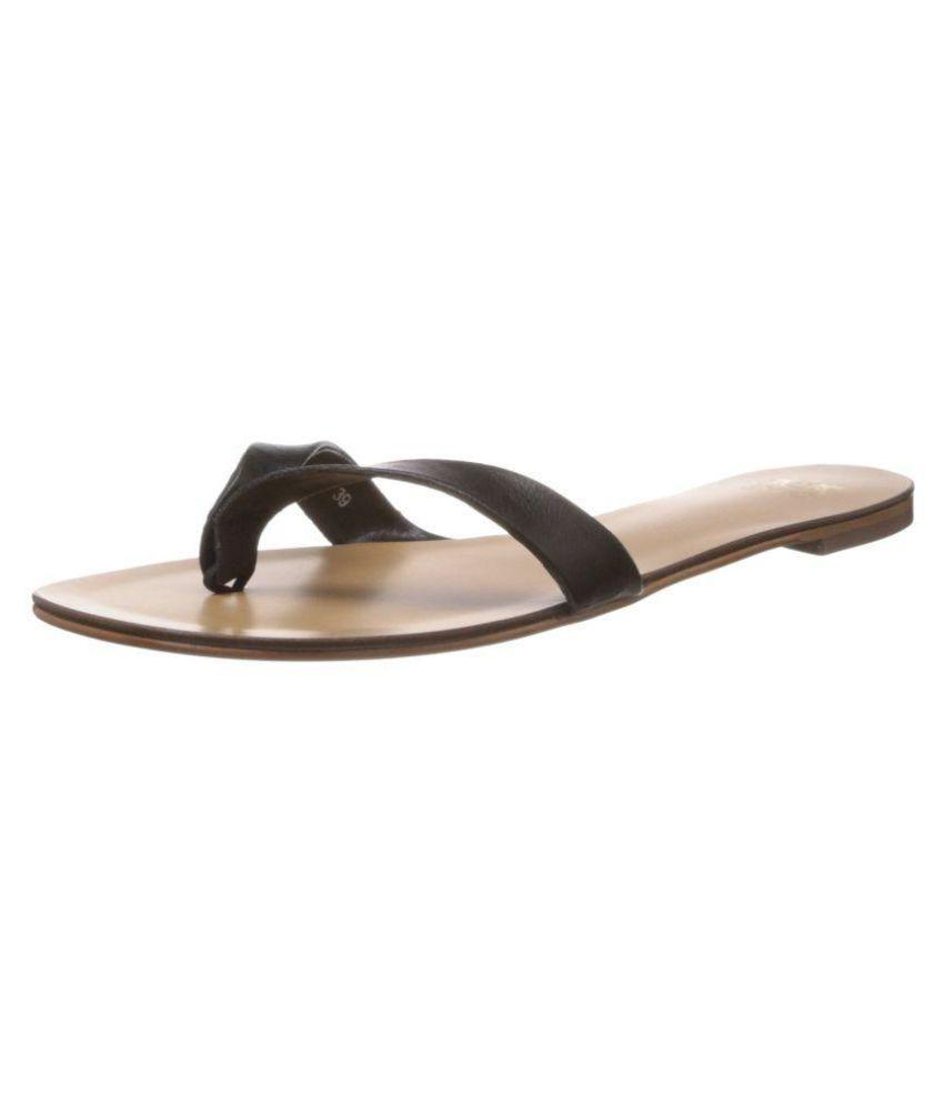 Saint G Black Slippers
