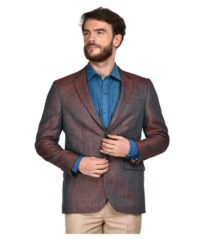 La Mode Brown Washed Formal Blazers