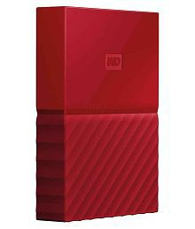 WD My Passport 2TB External Hard Drive (Red)