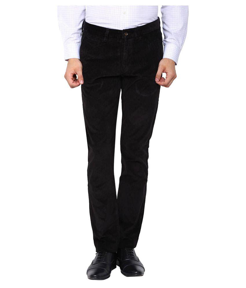 Arrow Sports Black Regular Flat Trouser