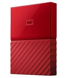 WD My Passport 1 TB USB 3.0 Portable External Hard Drive Red