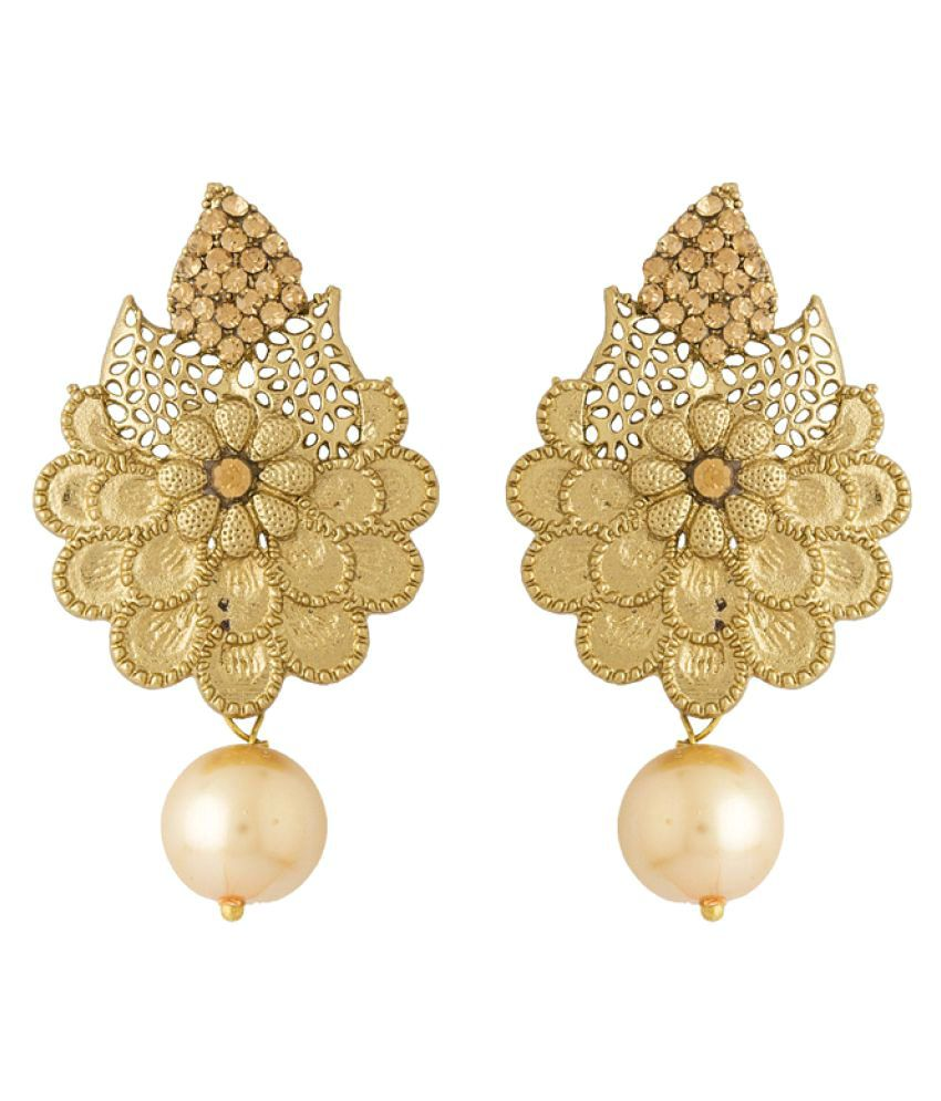 Voylla Stylish & Traditional Floral Designer Earrings