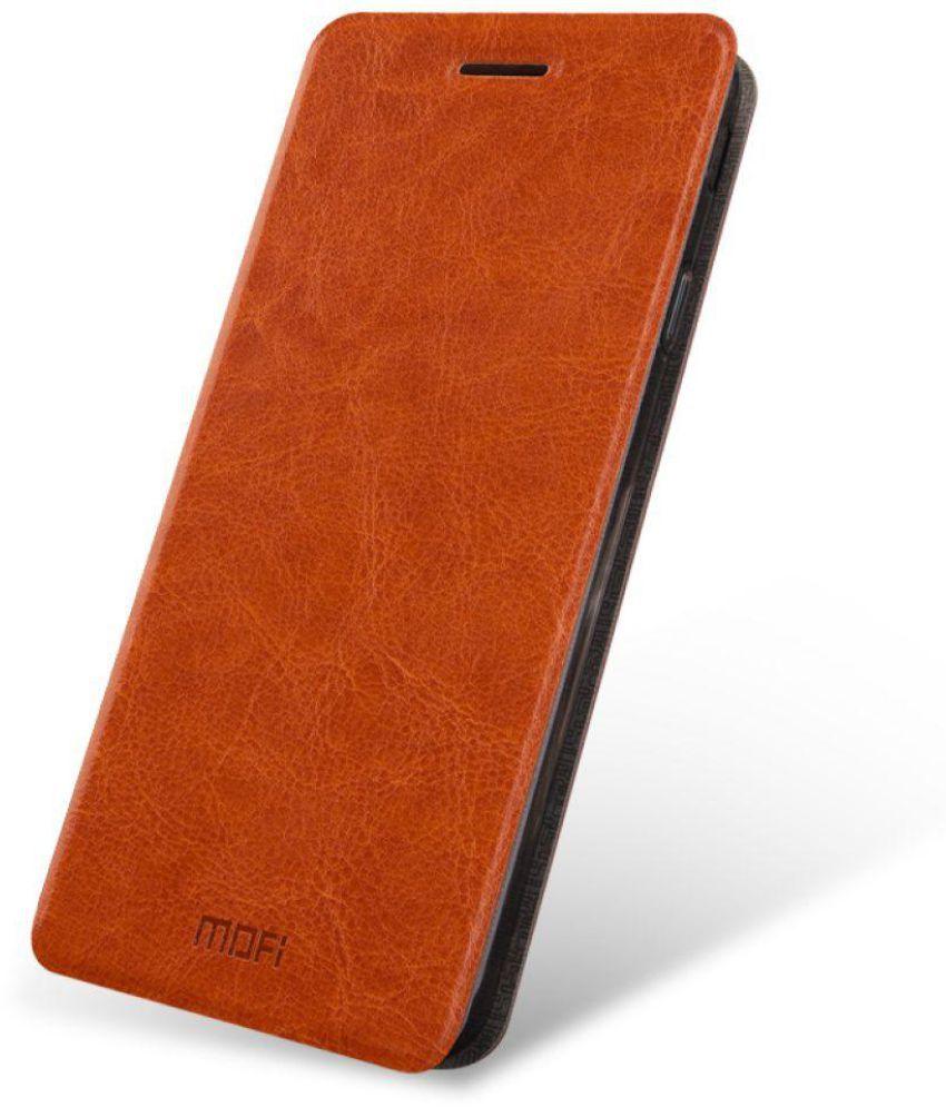 watch 15ef0 6bd38 Samsung Galaxy J7 Prime Flip Cover by Mofi - Brown