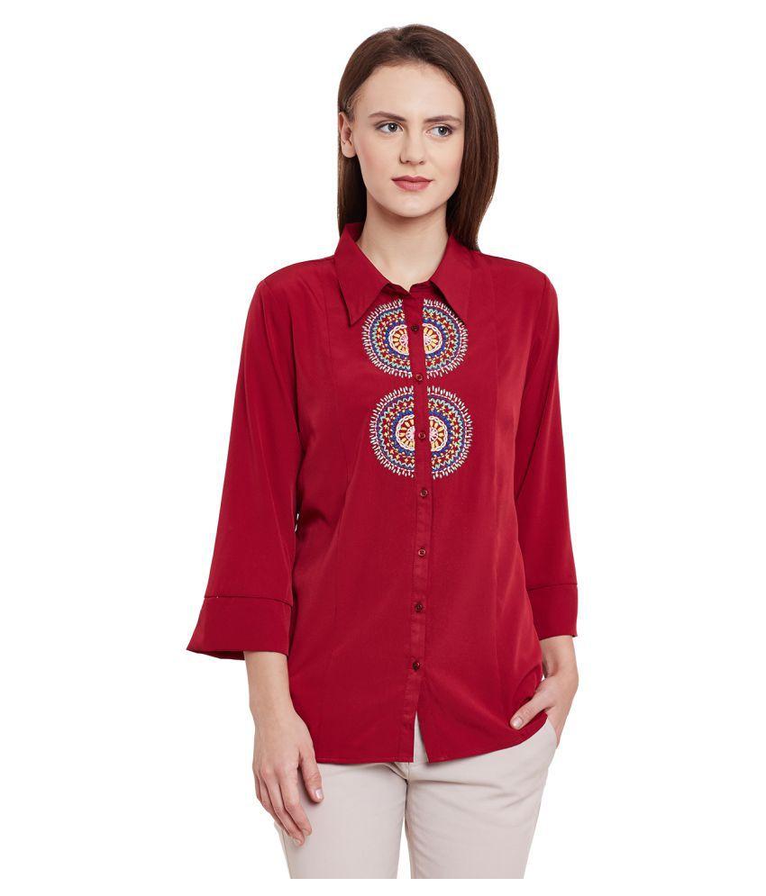 L'Elegantae Poly Crepe Shirt
