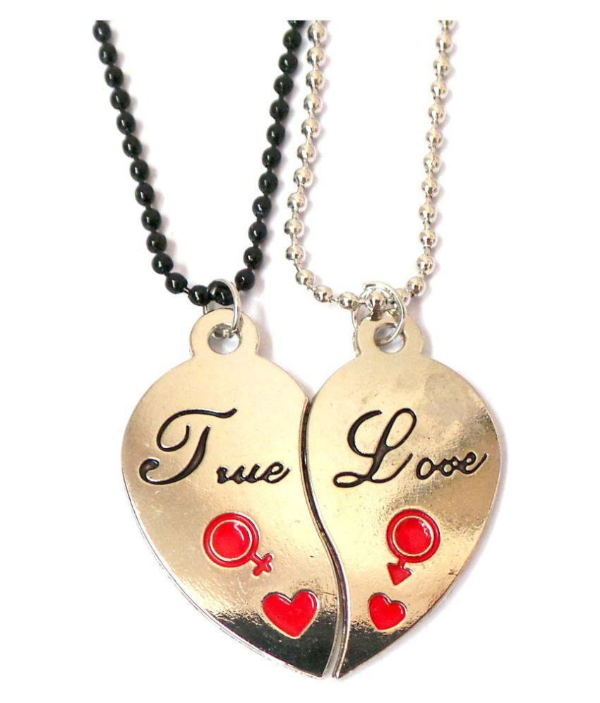 c9a3ba8a5f Modish Look Silver Couple Valentine Locket: Buy Online at Low Price in  India - Snapdeal