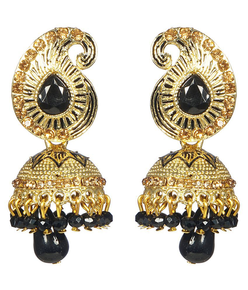 CTW Multi Alloy Jhumki Earrings
