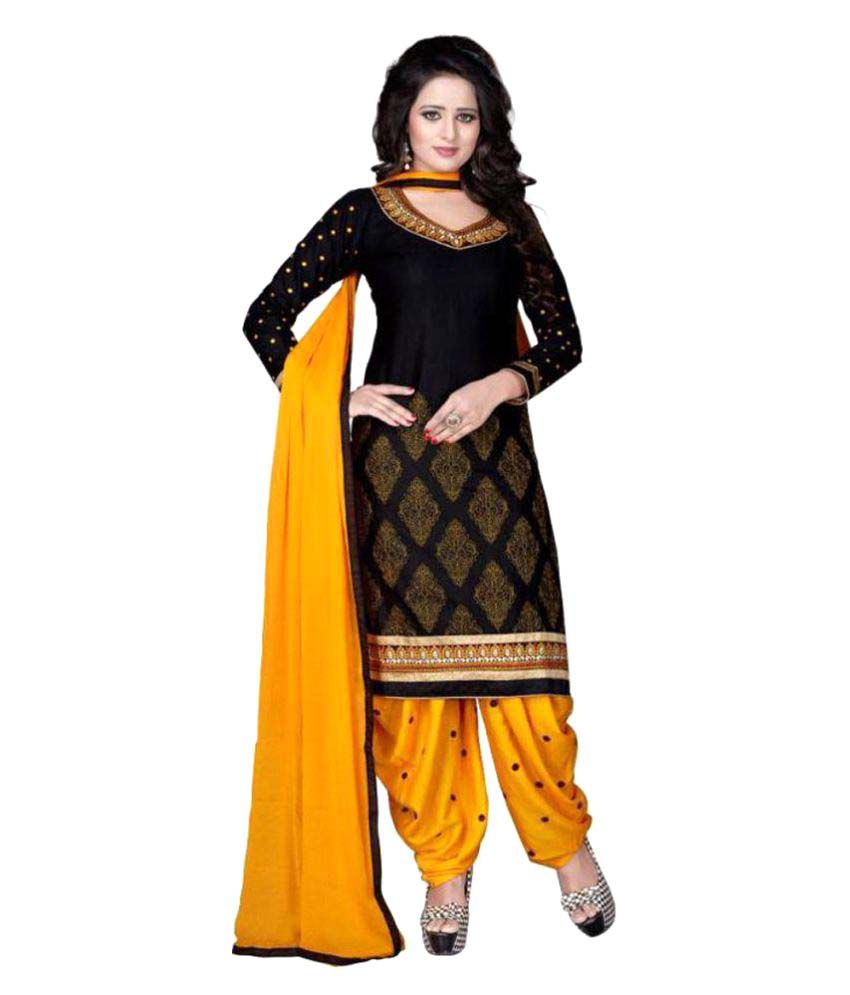 f38be349ac Mastani Yellow and Brown Cotton Dress Material - Buy Mastani Yellow and  Brown Cotton Dress Material Online at Best Prices in India on Snapdeal