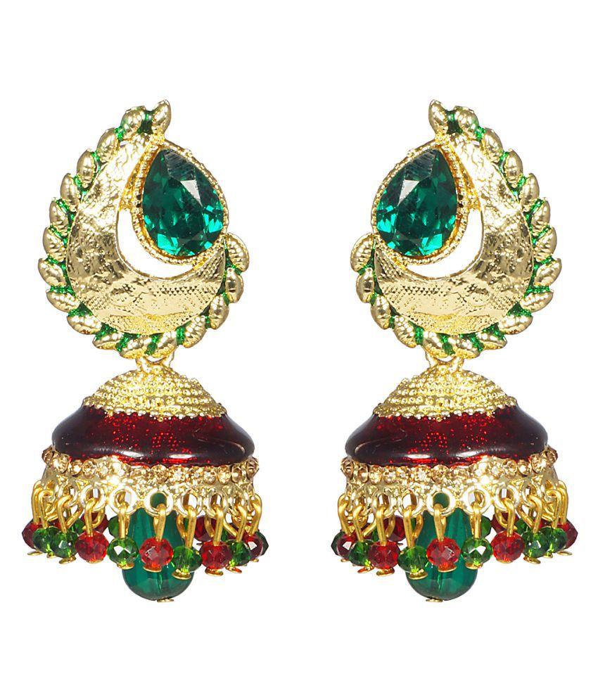 CTW Multicolour Traditional Jhumki Earrings