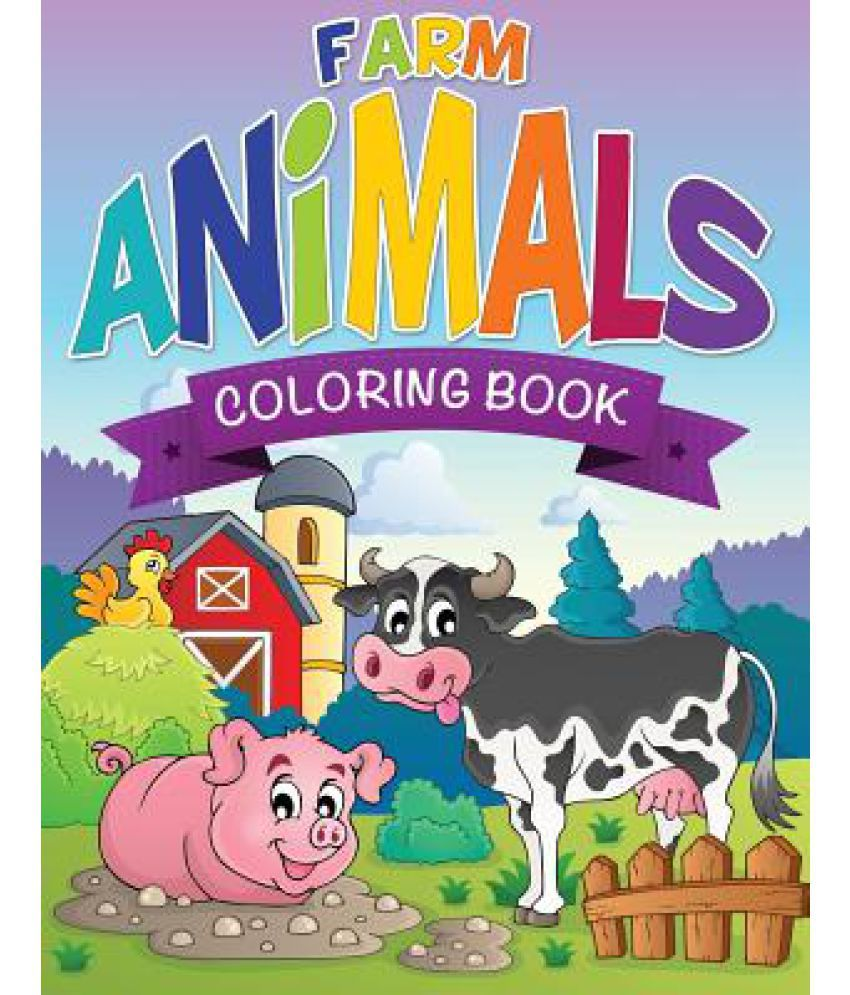 Farm Animals Coloring Book: Buy Farm Animals Coloring Book Online at ...