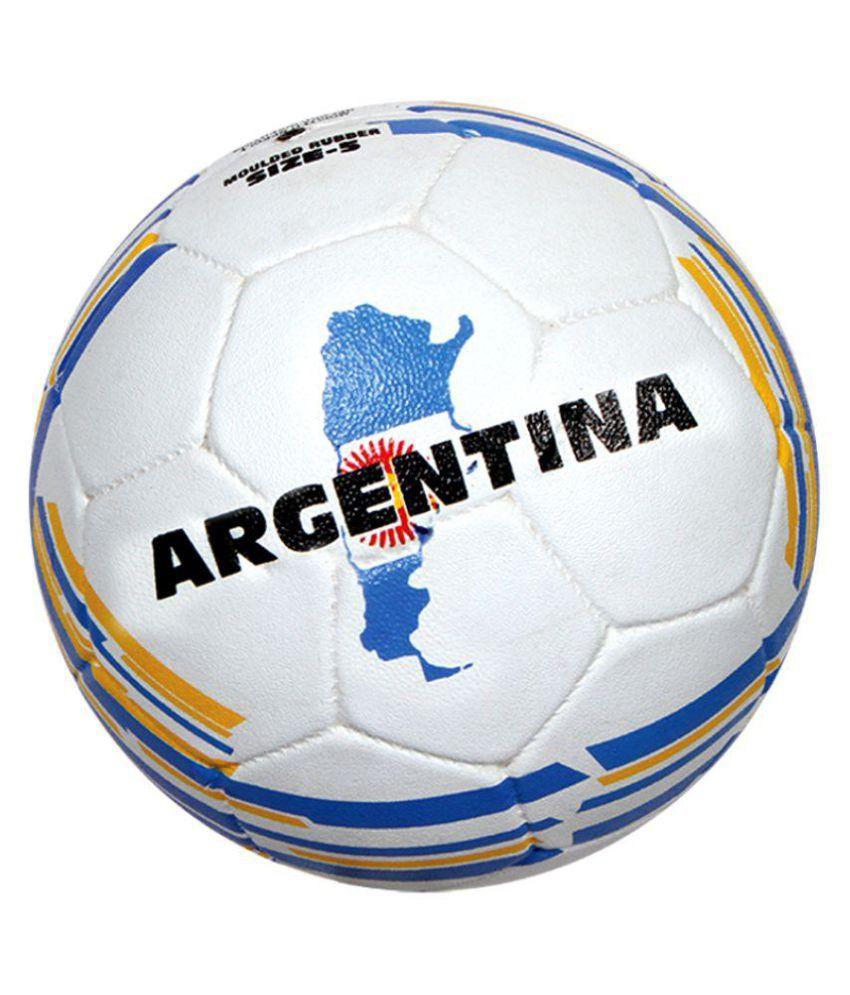Nivia Argentina White Football / Ball Size 5 1360AR