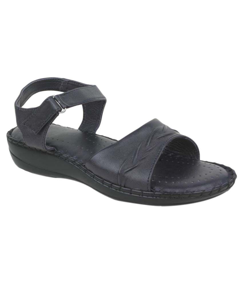 Funku Fashion Navy Wedges Heels