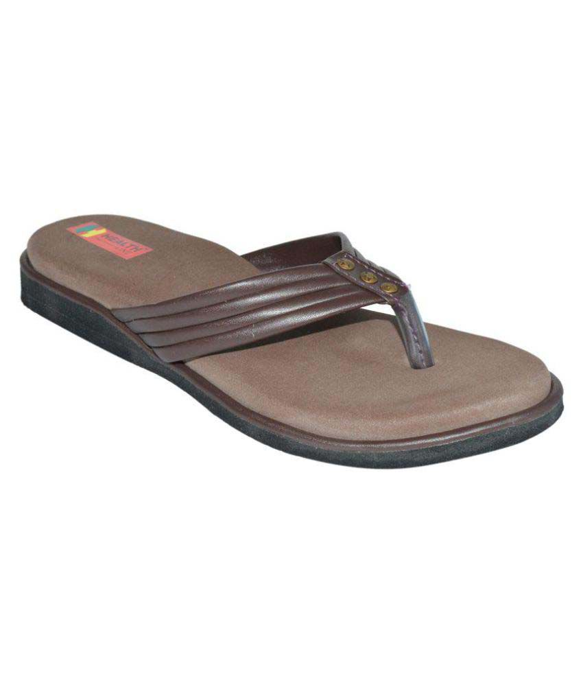 Health Line Brown Slippers