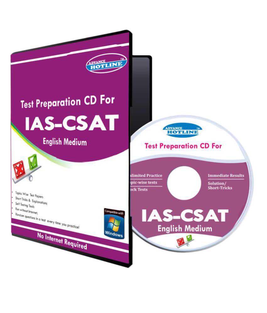 Self practice tests for IAS-CSAT (English)