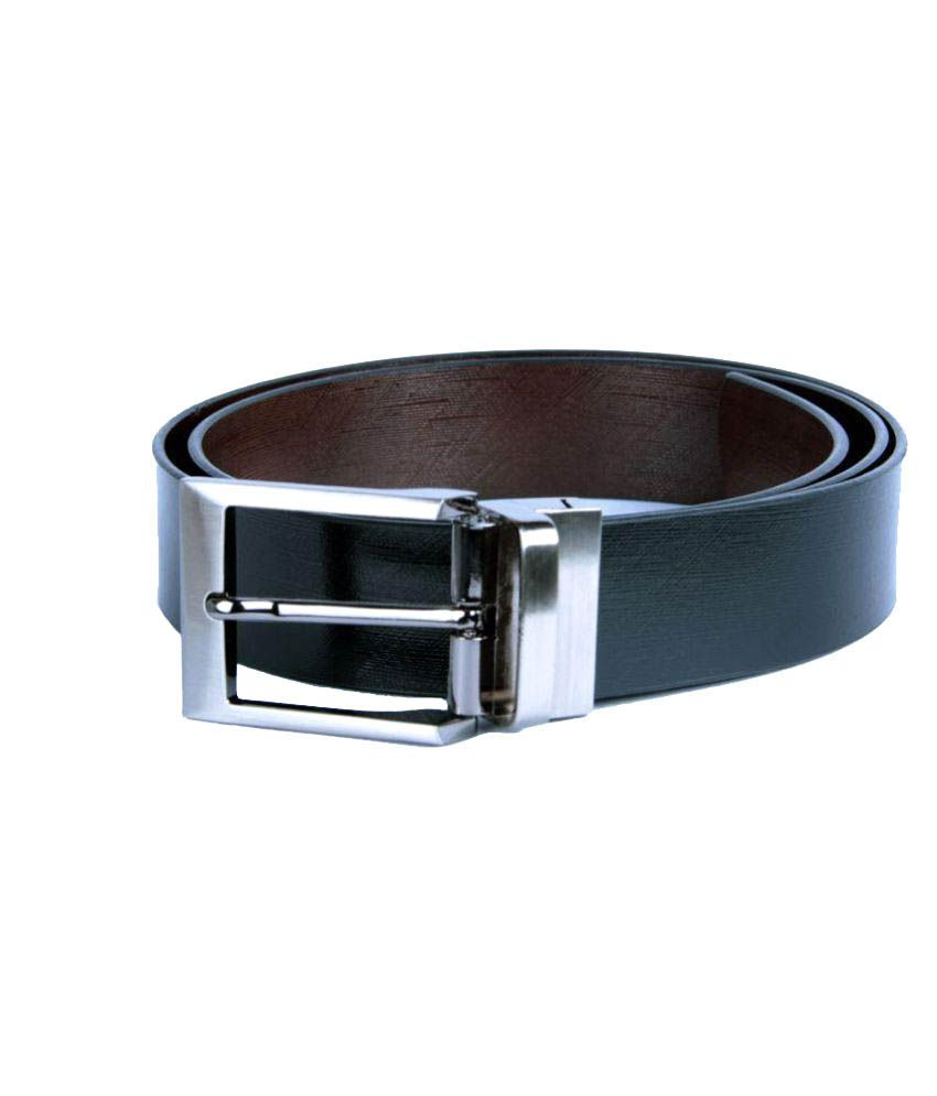 EKVI Black Leather Formal Belts
