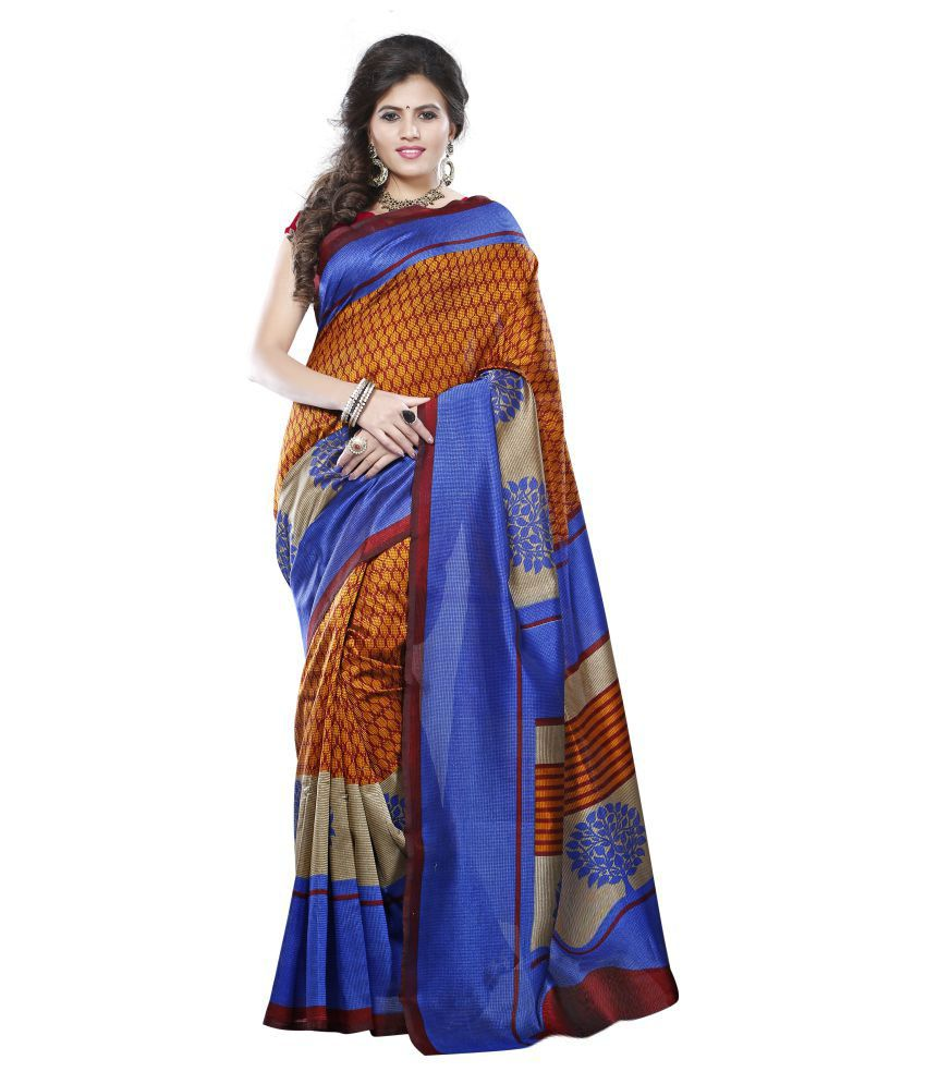 Piya Garments Multicoloured Art Silk Saree