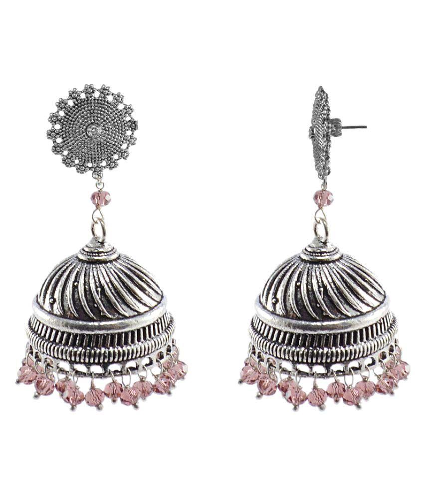 Silvesto India Multicolor Jhumki Earring