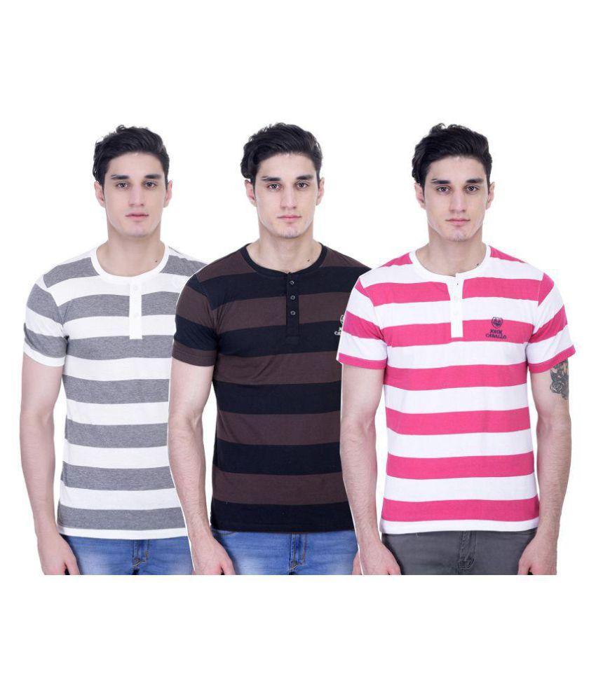 John Caballo Multi Round T-Shirt Pack of 3