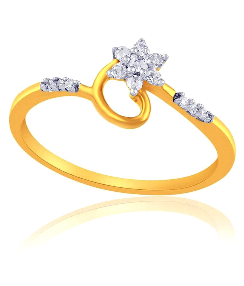 Nakshatra 18k Yellow Gold Diamond Ring