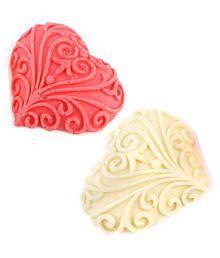 Ghasitaram Gifts Set Of 2 Designer Chocolate Hearts