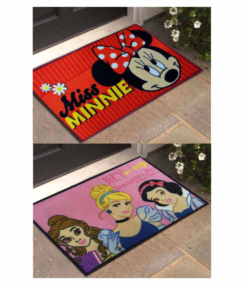 Disney Multi Set of 2 Regular Floor Mat