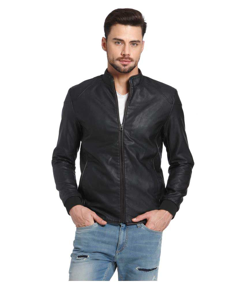 jack jones black leather jacket buy jack jones black leather. Black Bedroom Furniture Sets. Home Design Ideas