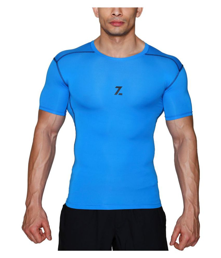 Azani Original Series Half Sleeve Compression Tops - Blue
