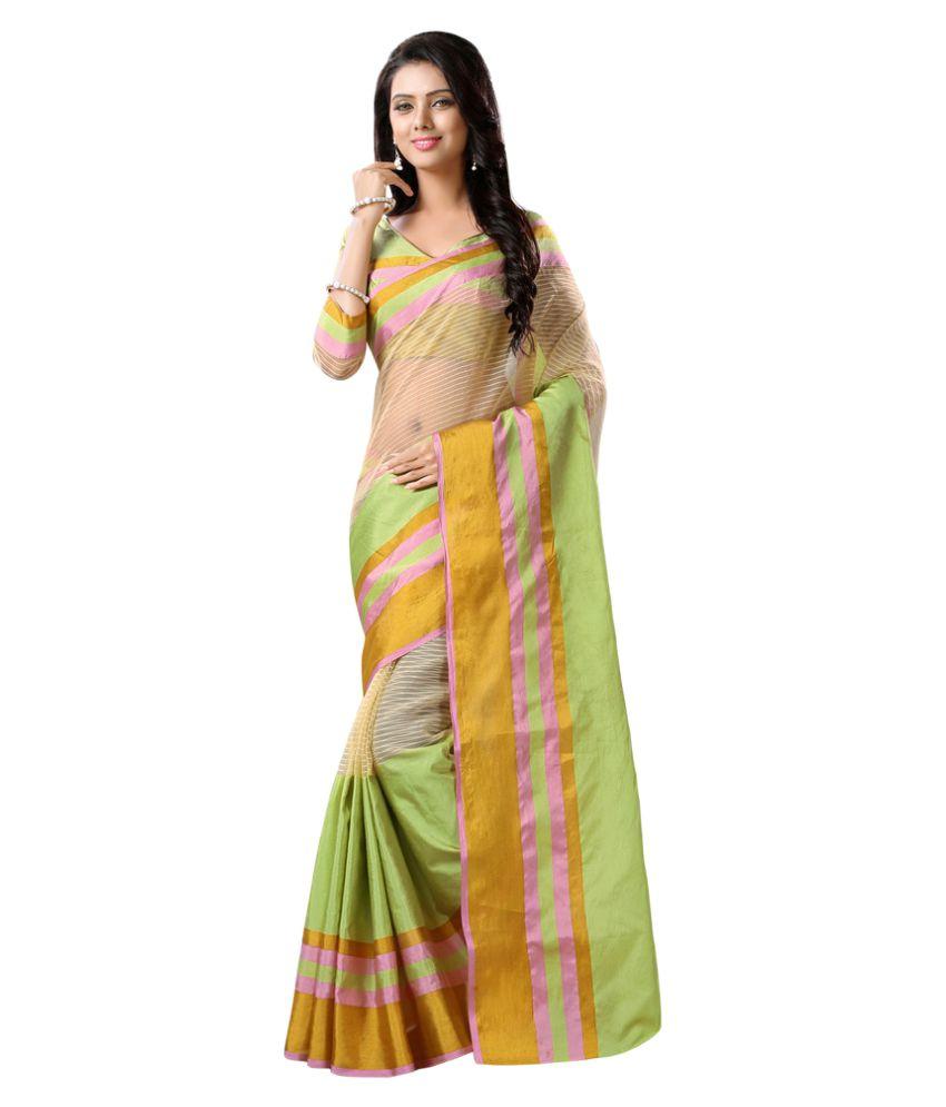 Apple Creation Multicoloured Tussar Silk Saree