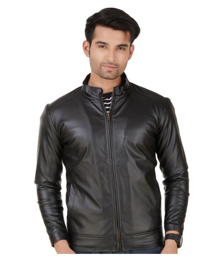 6d167f4a42c Leather Retail Black Leather Jacket - Buy Leather Retail Black Leather  Jacket Online at Best Prices in India on Snapdeal