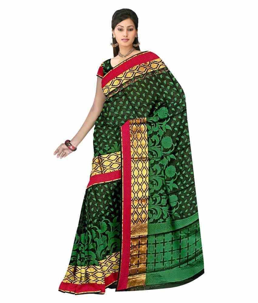 Meen Sarees Multicoloured Silk Saree