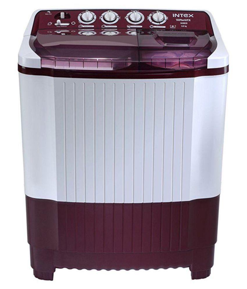 Intex Washing Machine Intex 8.0 Kg SA80CR Semi Automatic ...