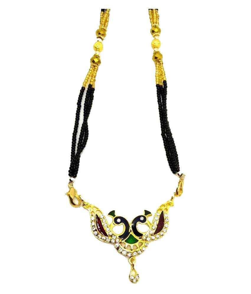 GoldNera American Diamond Peacock Mangalsutra for Women by GoldNera