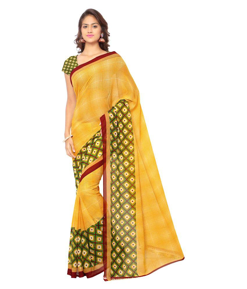 Vivaan Designer Multicoloured Georgette Saree