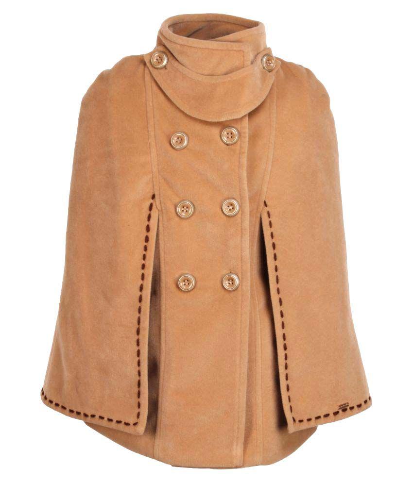 Cutecumber Brown Polyester Coat