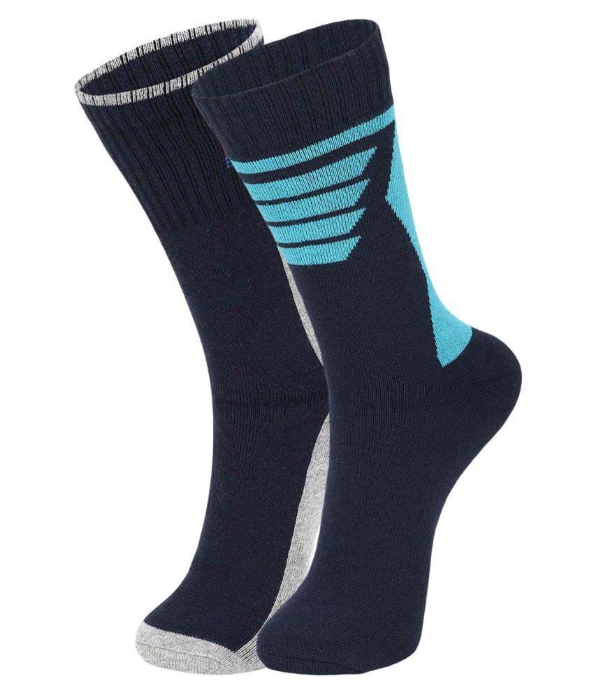 Dukk Gray Casual Mid Length Socks