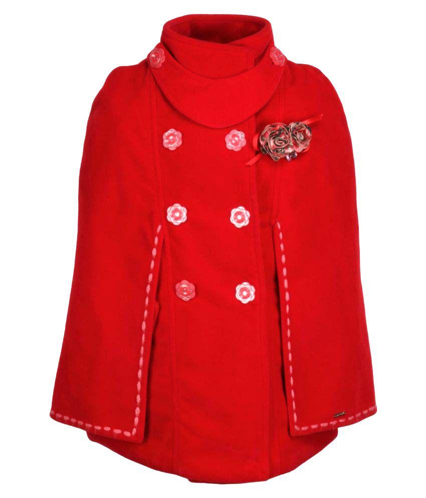 CuteCumber Red Polyester Girls Jackets