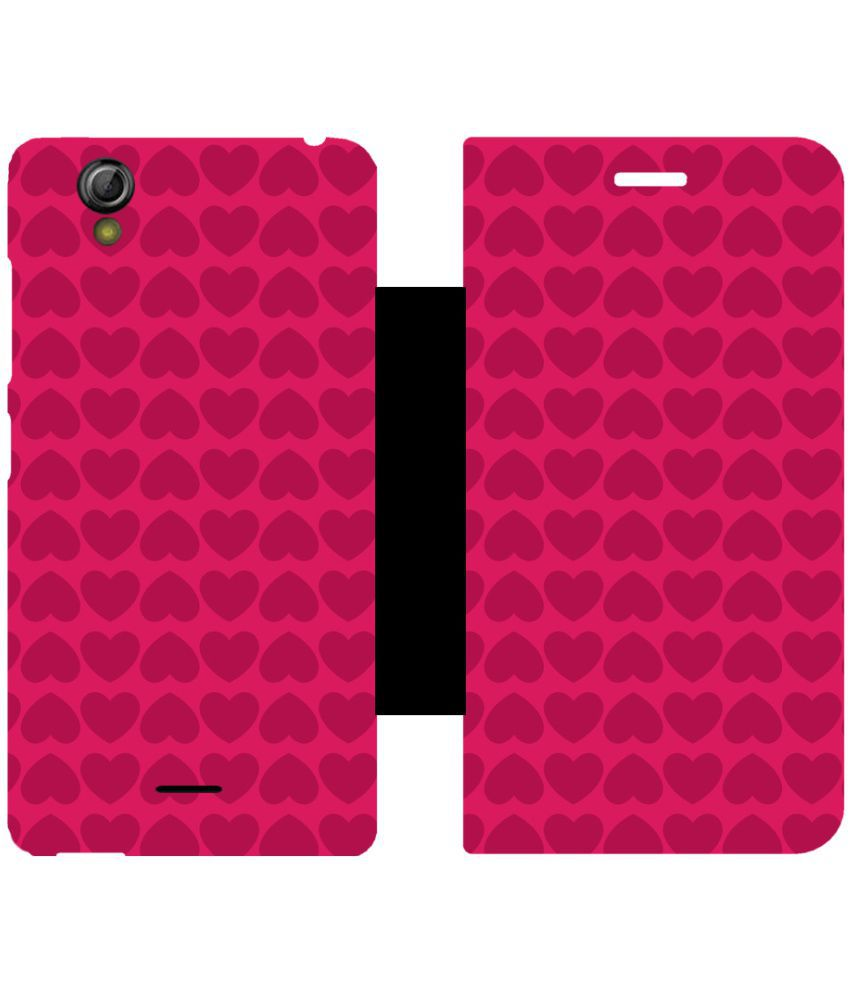 Gionee P5 Mini Flip Cover by Skintice - Pink