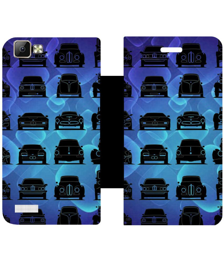 Vivo V1 Flip Cover by Skintice - Blue