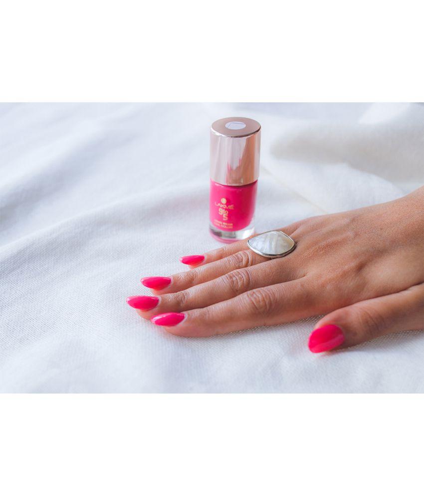 Gel Nail Polish Lakme: Lakme 9 To 5 Long Wear Nail Color, Pink Blast, 9 Ml: Buy