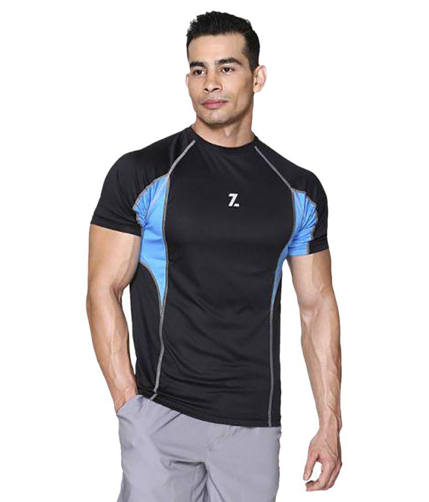 Azani Black Polyster T-Shirt