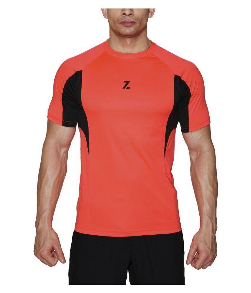 Azani Orange Polyster T-Shirt